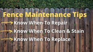 Fence Maintenance Tips