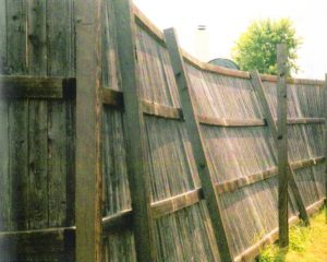 Fence Repair - Leaning Fence