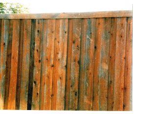 Hail damage on fence