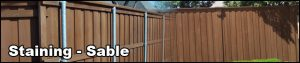 Fence staining - Sable Staining