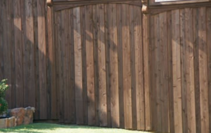 Fence staining and restoration Walnut color