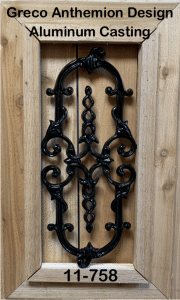 Gate Decorative Ornaments Greco Anthemion Design Aluminum Casting