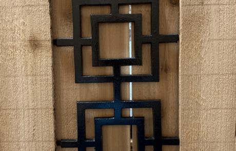 Plano Fence Repair - Gate Decorative Ornaments Modern Square Design Aluminum Castinglano Fence Repair