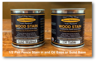 one-half pint size fence stain