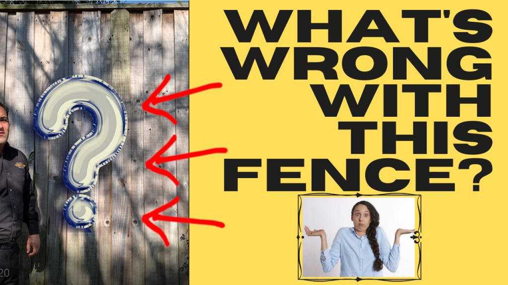 Fence Problem - What's Wrong with This Fence_