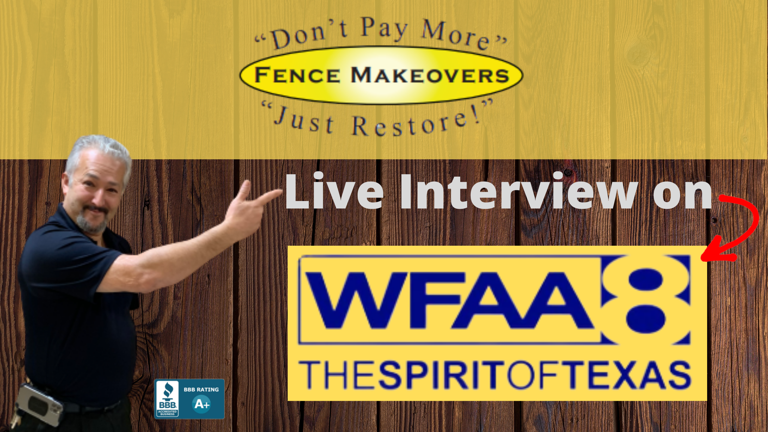 Fence Makeovers Channel 8 interview wind damage on fence