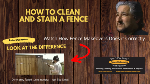 How to clean and stain a fence - Fence Makeovers Demonstration