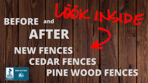 Fence Makeovers Before and After fences