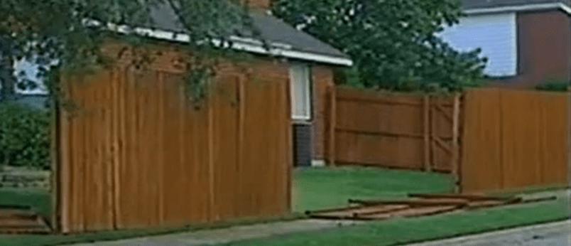 Windstorm broken fence