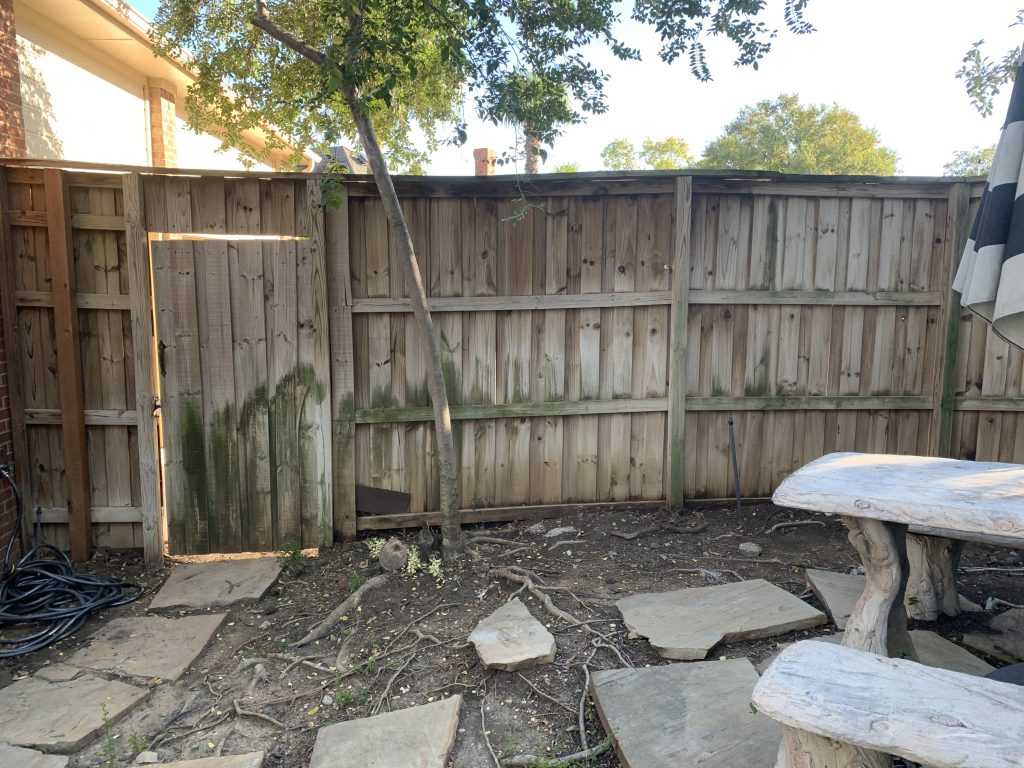 Water Damage from Neighbors Side of Fence