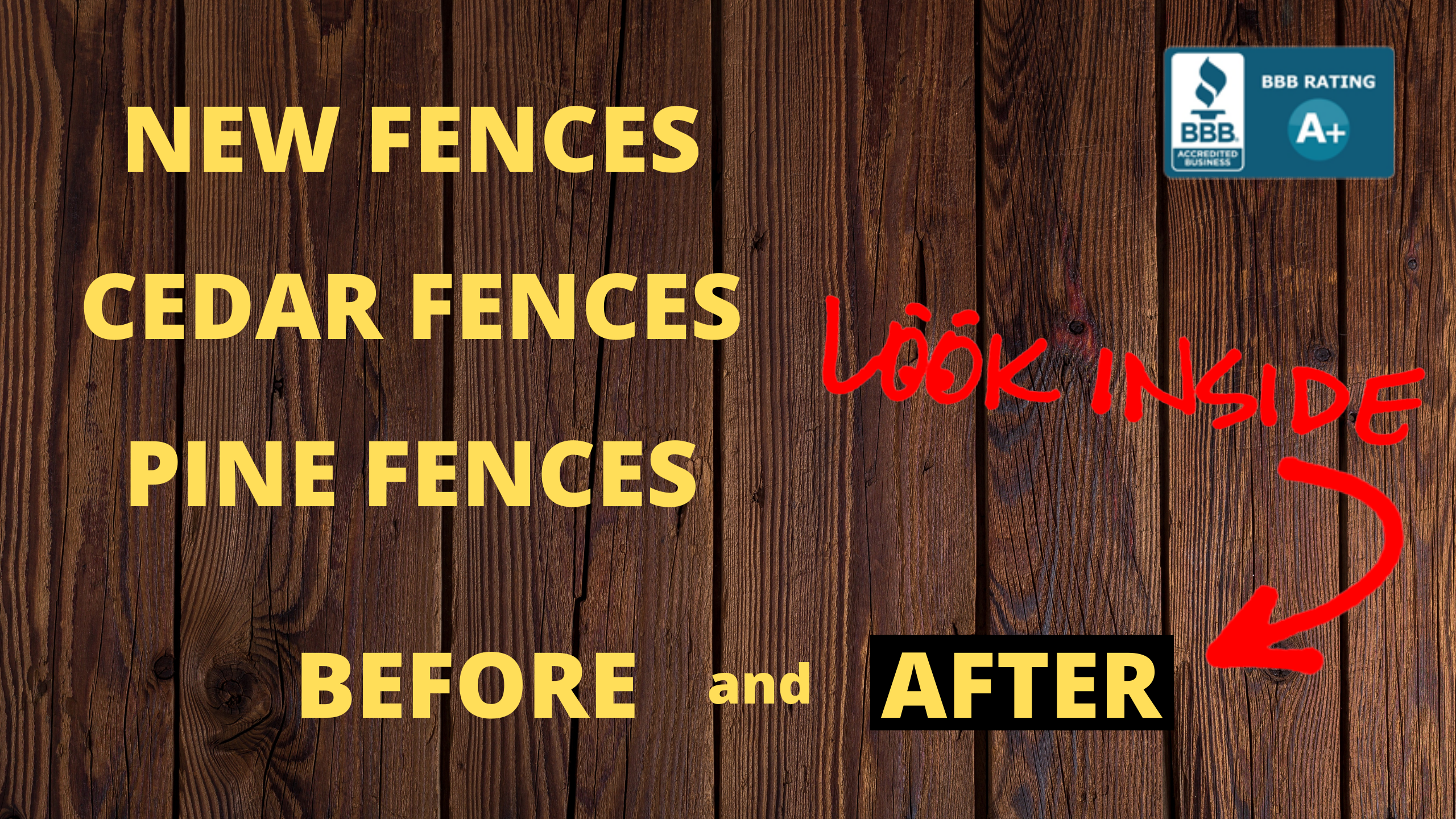 Fence makeover before and after pictures