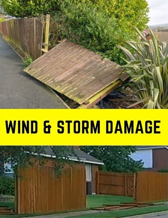 Fence Falls Down - Wind and Storm Damage